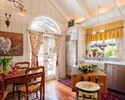 kitchen french kitchen with country interior also floral drapes