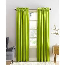 sun zero grant solid room darkening poletop 54 x 95 panel 260 cny lime green curtainscurtain