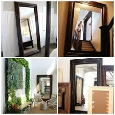 Mirror Collage Wall Remodelaholic Build A Large Wall Frame For A Chalkboard Or Mirror