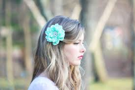 hair flower seafoam flower hair clip mint green hair clip something blue