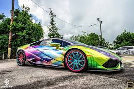 rainbow chrome ferrari top 15 hottest cars at goldrush rally 7 gtspirit