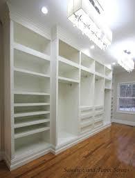 master closet built ins sawdust