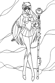 sailor pluto cool coloring pages for kids hdw printable sailor