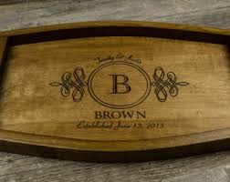 engraved serving trays wine serving tray etsy