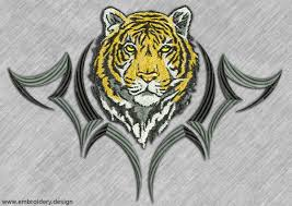 pack of tigers embroidery designs pack collection of 3