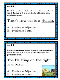 themed predicate adjectives u0026 predicate nouns task cards
