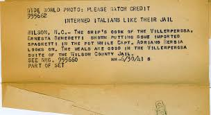 italian writing paper italian sailors in wilson jail 1941 wilson county public italian pows 5