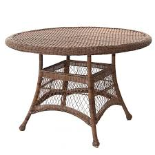 round resin patio table outdoor 44 resin wicker round patio dining table by jeco resin