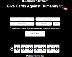 cards against humanity for sale cards against humanity sells literally nothing for 5 on black
