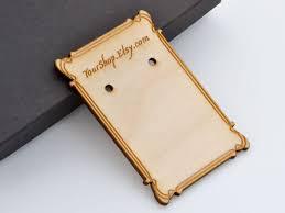wood earring cards custom shop website laser engraved birch