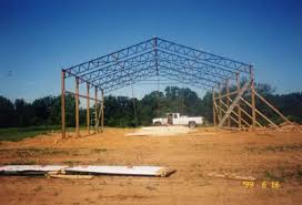 Truss Spacing Pole Barn Shop Design Strength Questions Steel Trusses With 2x6 Walls Or