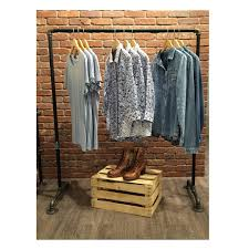Galvanized Pipe Clothes Rack Clothing Rack Industrial Garment Racks Vintage Style Clothes