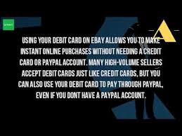 Design My Debit Card How Do I Pay With My Debit Card On Ebay Youtube