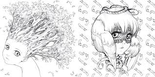 cute manga coloring pages amazon com pop manga coloring book a surreal journey through a