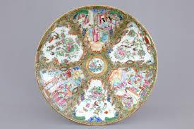 canton porcelain a porcelain famille canton dish 19th c rob