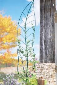 Patio Lawn And Garden Amazon Com Leaf Trellis Garden Stake Sculpture By Collections Etc