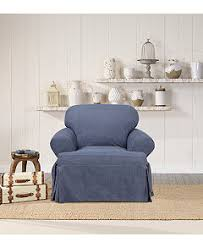 2 Piece T Cushion Loveseat Slipcover Sure Fit Authentic Denim Slipcover Collection Slipcovers For