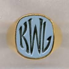Mens Monogram Rings Hand Engraved Jewelry Monogram Rings Monogram Rings