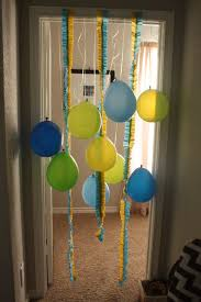 ruffled streamers birthday doorway ruffled streamers and balloons getting some