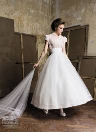 retro wedding dresses elizabeth barboza pronuptia wedding gowns 2011 tea length