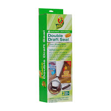 duck brand double draft door seal brown 2 pack walmart com