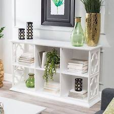 Quatrefoil Console Table Belham Living Hampton Console Table 2 Shelf Bookcase Ebay