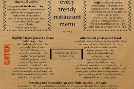 Meme Nyc Menu - here s what every trendy restaurant menu looks like eater