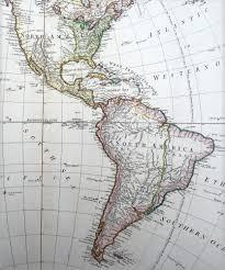 Map Of Western Hemisphere 1797 Faden U0026 D Anville Large Antique Map Of America Western