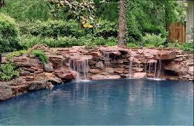 Waterfalls For Home Decor 100 In Ground Pool Waterfall In Ground Pool With Waterfall