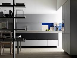 kitchen divider ideas small modern minimalist loft apartment city view bathroom with