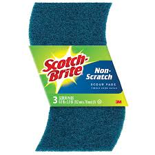Brite View Window Cleaning Shop Scotch Brite 3 Pack Poly Fiber Scouring Pad At Lowes Com