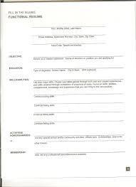 Free Blank Resume Layout Resume Printable Forms Virtren Com