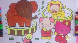 elephant coloring kids peppa pig lion kitty baby dog