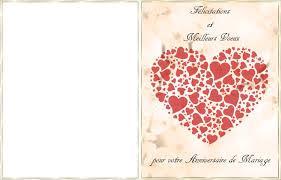 anniversaire mariage 10 ans carte d anniversaire de 10 de mariage gratuite à imprimer