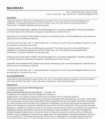 Service Technician Resume Sample Sample Resume For Hvac Technician Download Technician Resume