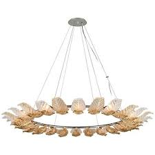 2 light pendant canopy corbett anello 56 1 2 wide gold leaf pendant light style 12h66