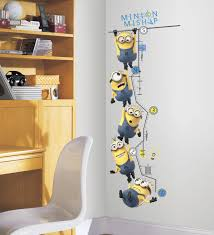 despicable me 2 growth chart wall decals wall sticker shop despicable me 2 growth chart wall decals