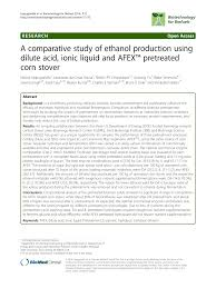 si e de balan ire a comparative study of ethanol production pdf available