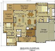 one level house plans with porch open layout house plans mountain homes homepeek