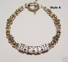 beaded name bracelets 12 best beaded mothers name bracelets images on