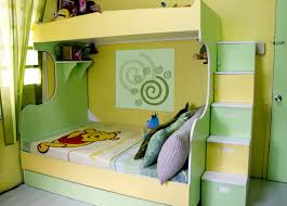 Bedroom Decor Green Walls Lime Green Bedroom Showing Yellow Green Wooden Bunk Bed Connected