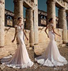 generous mermaid wedding dresses elena vasylkova 2017 with cap