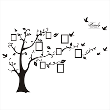 large balck photo picture frame tree vine branch wall sticker decal