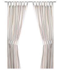 rosenkvitten curtains with tie backs 1 pair ikea