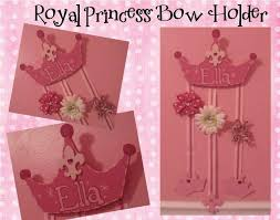 bow holders princess crown hair bow holder painted custom made to match