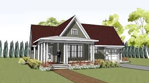 simple yet unique cottage house plan with wrap around porch plans