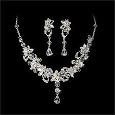 sterling silver wedding necklace images 53 wedding necklaces and earrings silver crystal necklace earring jpg
