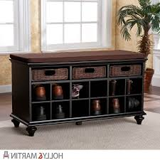 Bench With Storage Baskets by Bench Entry Way Benches With Storage In Artistic Entryway