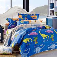 Bedding Sets For Girls Print by Royal Blue Yellow Purple And Orange Dinosaur Animal Print Jungle