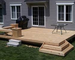 flooring ideas minimalist patio design with deck design